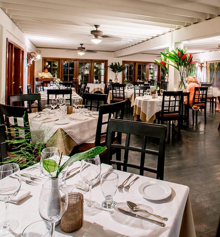Indoor dining at Palmilla Restaurant