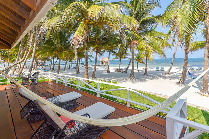 The Rainforest Suite's private veranda at Victoria House Resort and Spa, Belize.