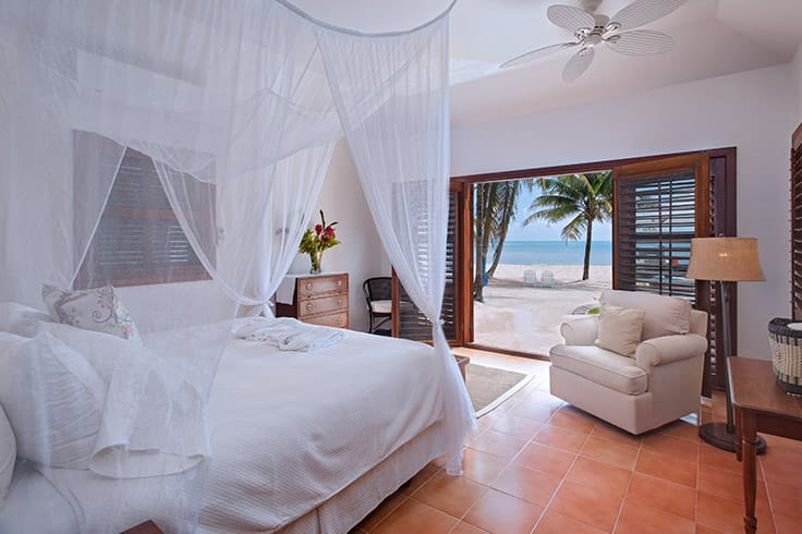 Bedroom in Casa Playa Blanca at Victoria House Resort and Spa, Belize
