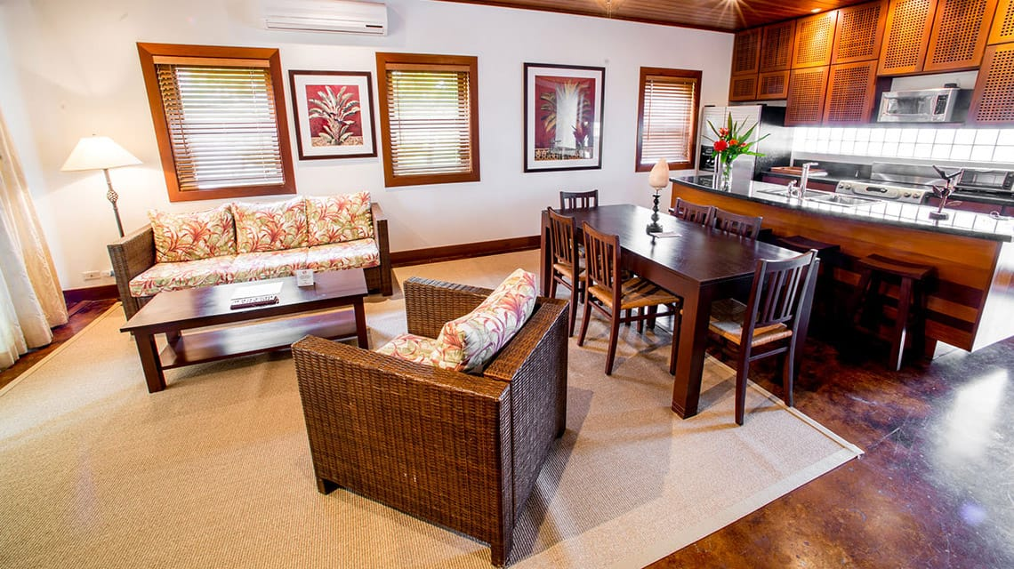 Living area in Infinity Suite at Victoria House Resort and Spa