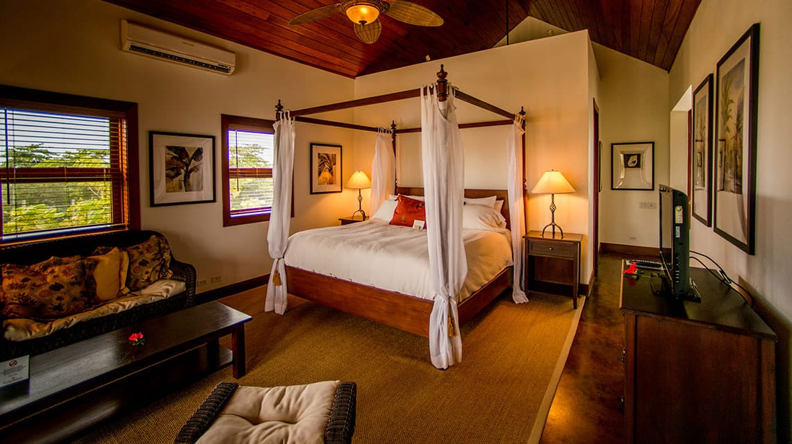 Infinity Suite bedroom at Victoria House Resort and Spa, Belize