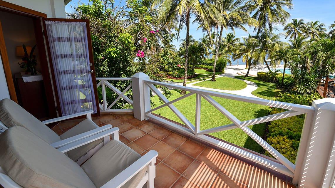 Veranda off of Palmetto Room at Victoria House Resort and Spa