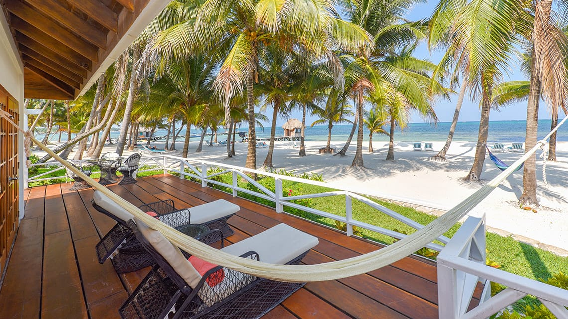 Private veranda in the Rainforest Suite at Victoria House Resort and Spa, Belize