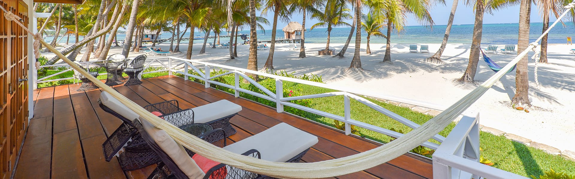 The Rainforest Suite's private veranda at Victoria House Resort and Spa, Belize.