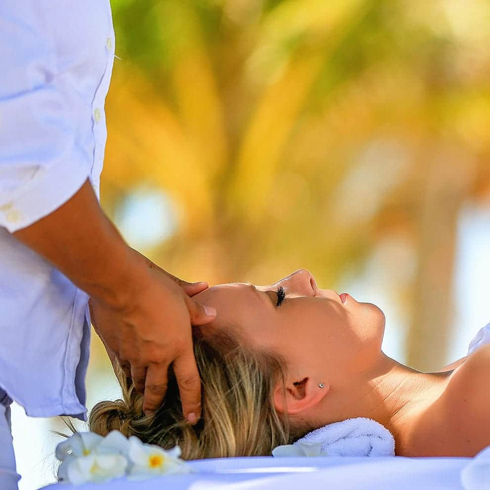 Woman receiving a relaxing massage at Victoria House Spa