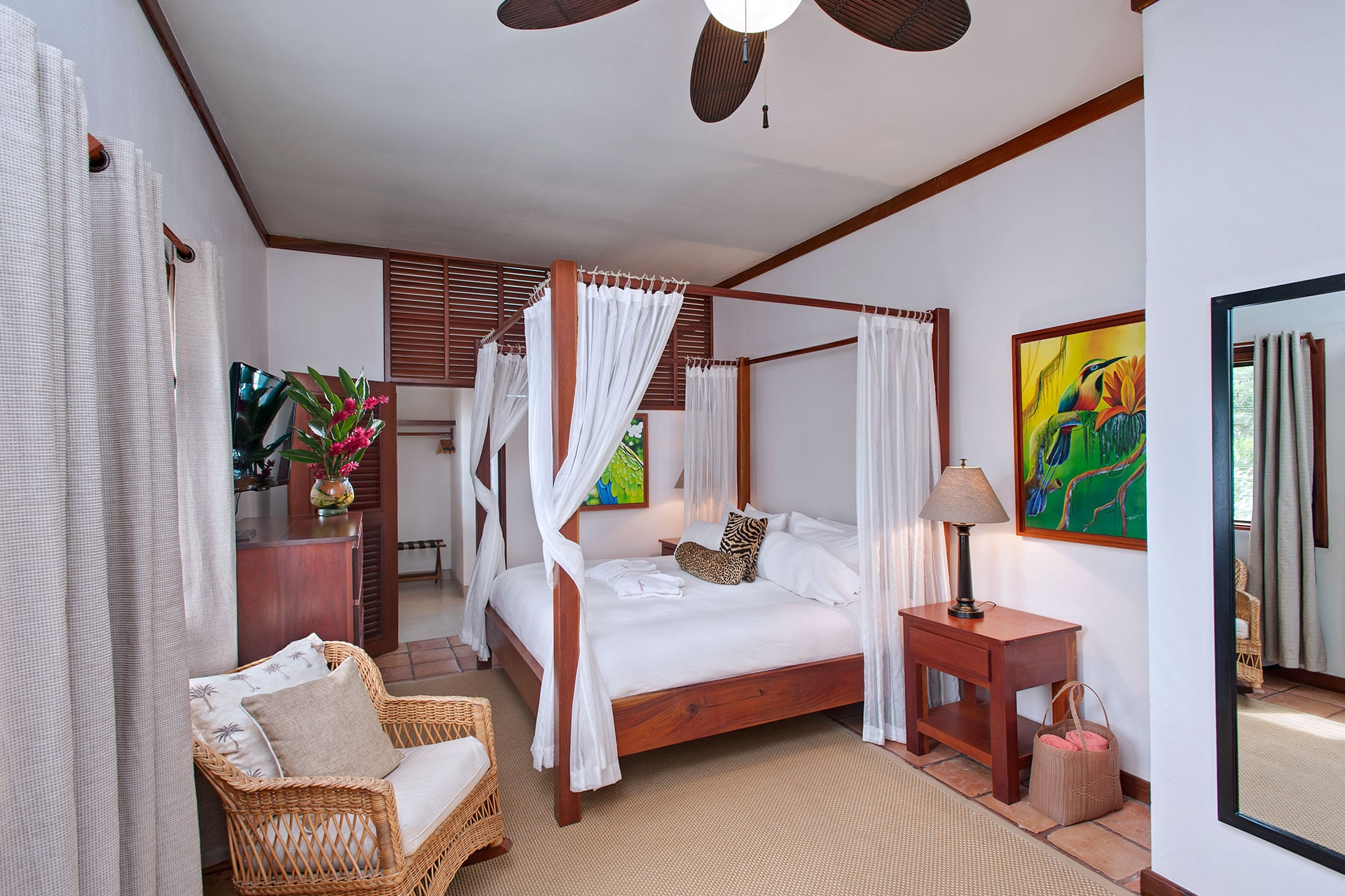 Bedroom in Casa Del Sol at Victoria House Resort and Spa, Belize