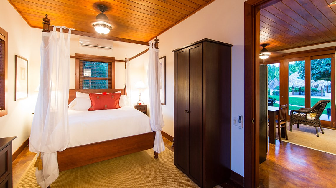 Bedroom in a Luxury Villa at Victoria House Resort and Spa, Belize