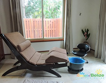 Spa chair at Victoria House Resort and Spa, Belize