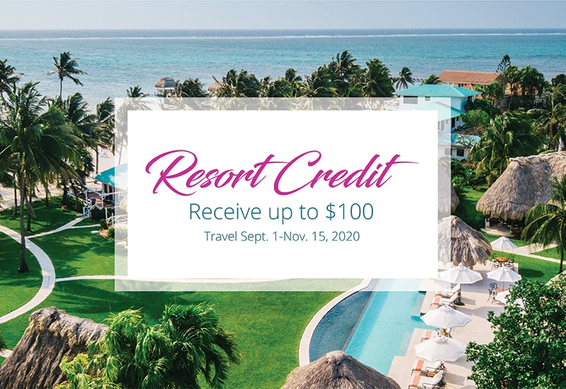 Resort Credit seasonal special at Victoria House Resort and Spa, Belize
