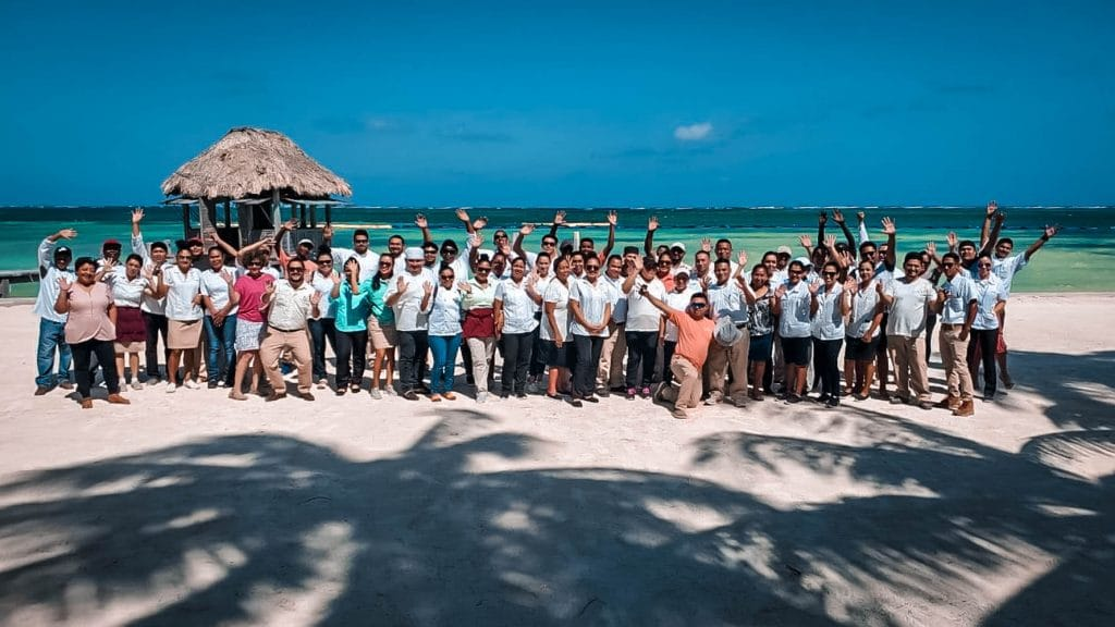 Victoria House Resort and Spa staff group