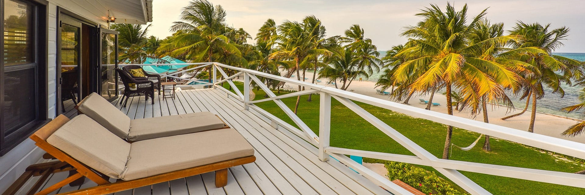 Private veranda in the Tower Suite at Victoria House Resort and Spa