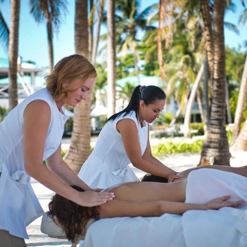 Massage on the beach at Victoria House Resort and Spa